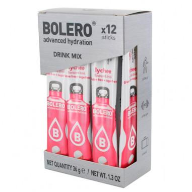 Pack 12 Sticks Bebidas Bolero sabor Lichi 36 g