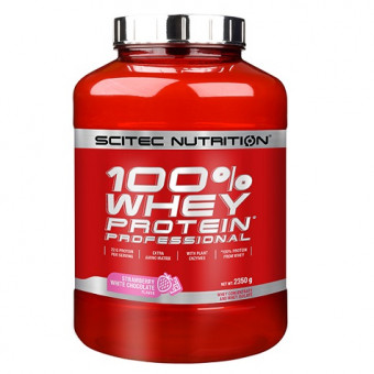 100% Whey Professional Scitec Nutrition Chocolate Blanco Fresa 2350 g