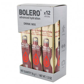Pack 12 Sticks Bebidas Bolero sabor Cherry Cola 36 g