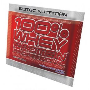 100% Whey Professional Scitec Nutrition Vanille Fruits des Bois unidoses 30 g