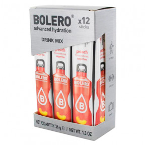 Pack 12 Bolero Drinks Sticks Peach 36 g