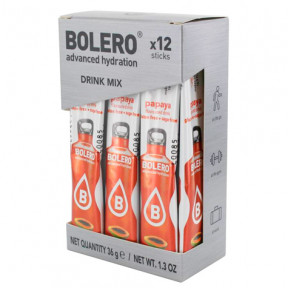 Pack 12 Sticks Bebidas Bolero sabor Papaya 36 g