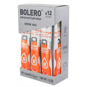 Pack de 12 Bolero Drinks Sticks Laranja vermelha 36 g