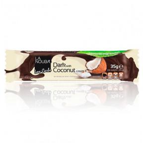 Chocolate amargo com recheio de creme de coco LowCarb LaNouba 35 g