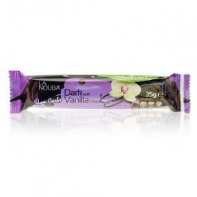 Chocolatina Low-Carb de Chocolate Negro Rellena de Crema de Vainilla LaNouba 35 g
