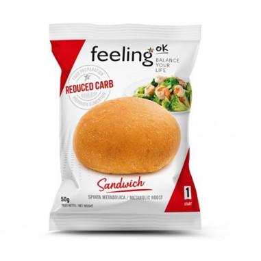Pão FeelingOk Sandwich Etapa 1 Natural 1 unidad 50 g