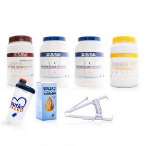 Pack 4 Casein Pro 100% Calcium Protéines de Caséinate de Vitalimax Nutrition