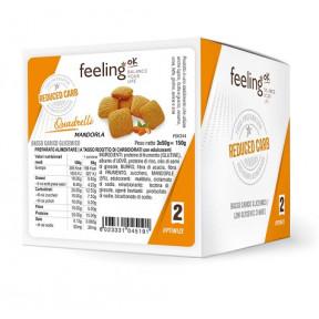 Mini Galletas FeelingOK Quadrelli Optimize Almendras 150 g
