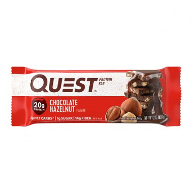 Quest Bar Protein Chocolate com Avelãs 60 g