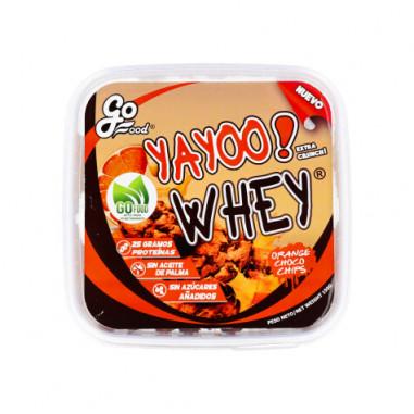 Biscoitos de Proteína Yayoo Whey Chips de Chocolate e Laranja GoFood 150 g