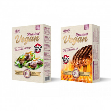 Protein Roasted Vegan Burger Natural Zero 190g