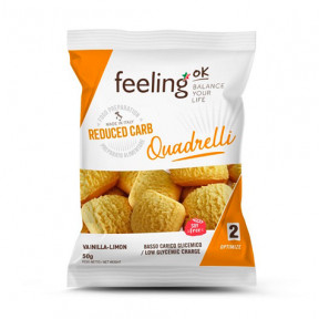 Mini Galletas FeelingOK Quadrelli Optimize Vainilla-Limón 50 g