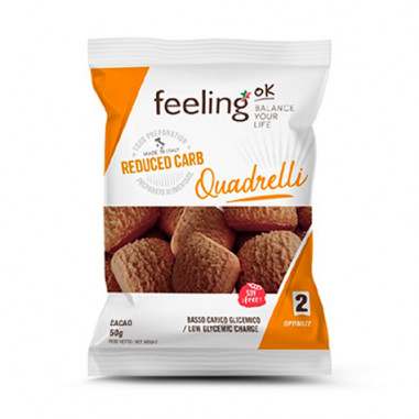 Mini Galletas FeelingOK Quadrelli Optimize Cacao 50 g