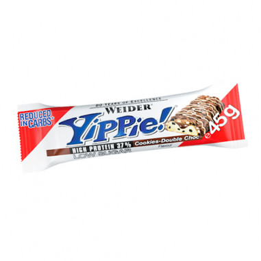 Low Carb Yippie! Tablette de Chocolat avec Biscuits Weider 45 g