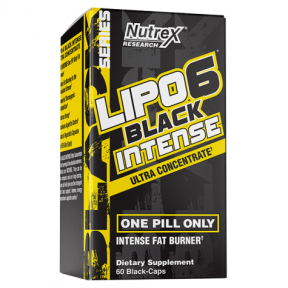 Lipo 6 Black Intense Ultra Concentrate Weight Loss Support 60 capsules Nutrex Research