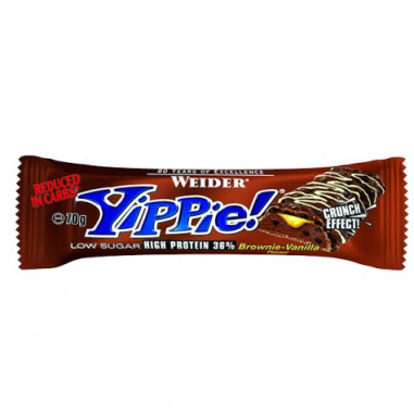 Low Carb Yippie! Bar Brownie-Vanilla Weider 70g