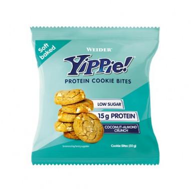 Mini galletas proteicas Weider Yippie! sabor Crujiente de Almendra y Coco 50g