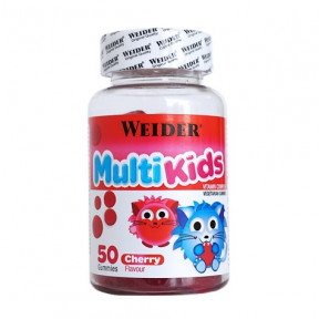 Multivitamínico para niños Weider Multi Kids UP sabor cereza 50 gominolas