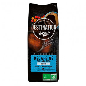 Ground Soft Decaffeinated Organic Coffee 100% Arabica Destination 250 g