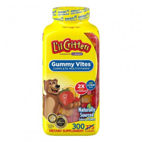 Multimineral Multivitamínico para as crianças L'il Critters (275)