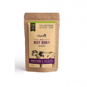Beef Jerky Organic Cured Meat with Honey and Mustard Flavor Cherky 30g