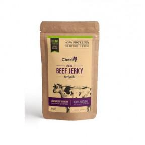 Beef Jerky Organic Cured Meat with Teriyaki Sauce Flavor Cherky 30g