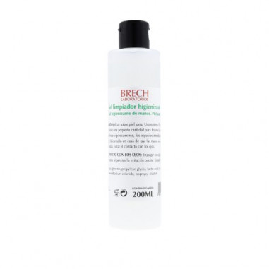 Gel limpiador higienizante de manos Brech 200ml