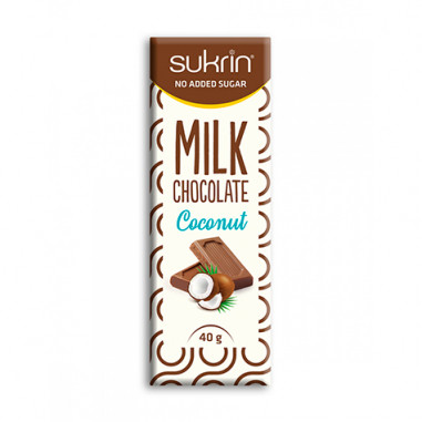Sukrin Milk Chocolate and Coconut Sugar Free 40g
