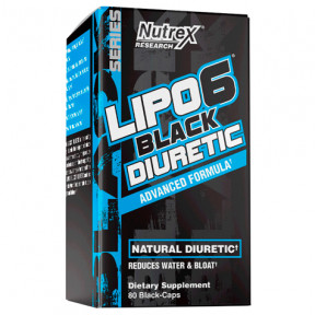 Lipo 6 Black Diuretic 80 Capsules Nutrex Research