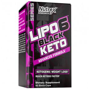Lipo 6 Black Keto 60 Cápsulas Nutrex Research
