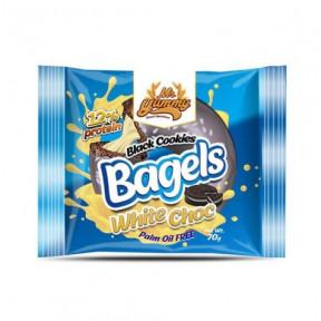 Mr. Yummy Rosquilha Bagel de Black Cookies com creme de chocolate branco 70g