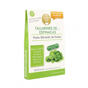 Tallarines de espinacas de Konjac The Konjac Shop 200g