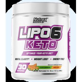 Lipo 6 Keto para perder peso sabor Pepino-Melón Nutrex Research 288g