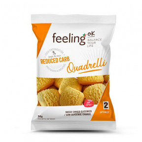 FeelingOk Orange Quadrelli Optimize Mini Cookies 50 g