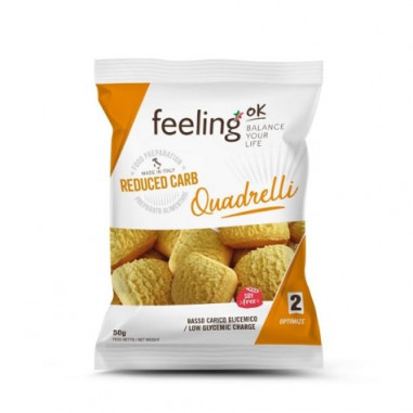 Mini Biscuits FeelingOk Quadrelli Optimize Noisettes 50 g