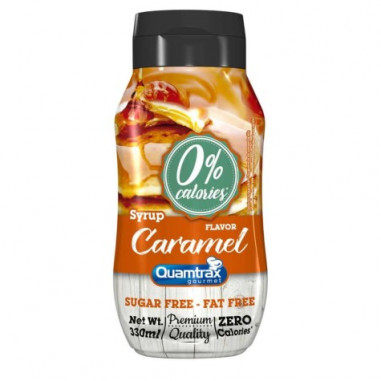 Quamtrax Gourmet Caramel Syrup 0% calories 330ml