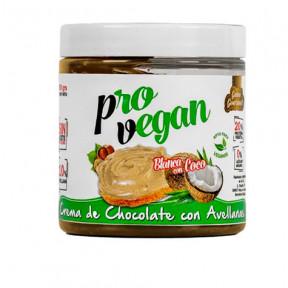 Crème Protéane Provegan chocolat blanc aux noisettes et morceaux de noix de coco Protella 250g