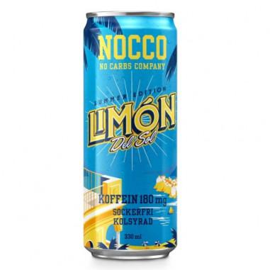 Bebida Low-Carb con BCAA y Cafeína sabor Limón del Sol Nocco 330 ml