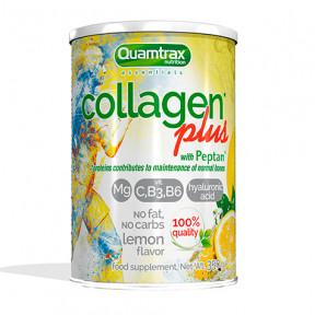 Collagen Plus con Peptan Quamtrax Essentials sabor limón 350g