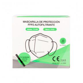 Caixa com 20 máscaras FFP2 padrão EN149: 2001 filtro respiratório com marcação CE