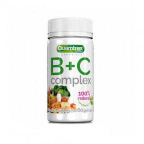 Complexe de Vitamines B+C Quamtrax Essentials 60 capsules