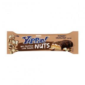 Weider Yippie! Nuts bar sabor turrón y avellana 45g