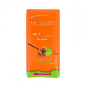 Tableta Low-Carb de Chocolate con leche y avellanas con Stevia LaNouba 85g