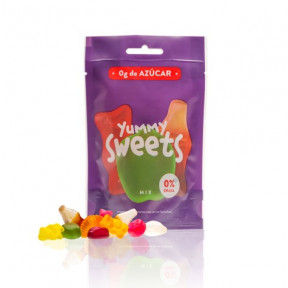 Mix gommeux sans sucre Yummy Sweets 50g