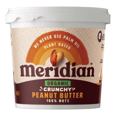 Mantequilla de Cacahuete Ecológico Crujiente Meridian 1 kg