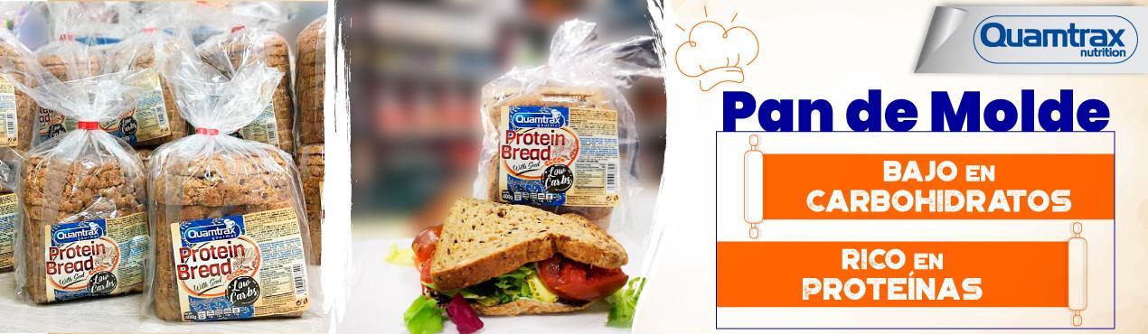 Pan de molde proteico y bajo en hidratos de carbono de Quamtrax, un pan fresco y tierno para hacer tus comidas más saludables