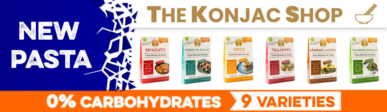 New carbohydrate-free pasta from The Konjac Shop, with up to 9 varieties of carbohydrate-free pasta ideal for any type of diet