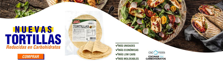 Nuevas Tortillas Reducidas en Carbohidratos