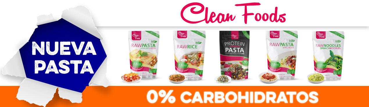 Nueva pasta sin carbohidratos Clean Foods, la marca en alimentos sin carbohidratos que está arrasando en Europa. ¡Disfruta y mantén la línea!