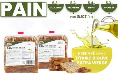 Pain et protéines à faible teneur en glucides et à haute teneur en fibres de CSC Foods, Cocinar sin